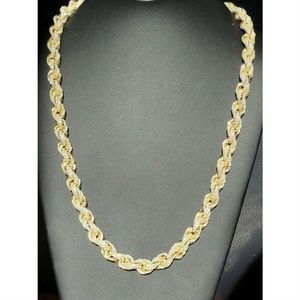 Harlembling Gold Diamond Sterling Silver Chain